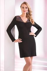 Домашнее платье из вискозы черное короткое