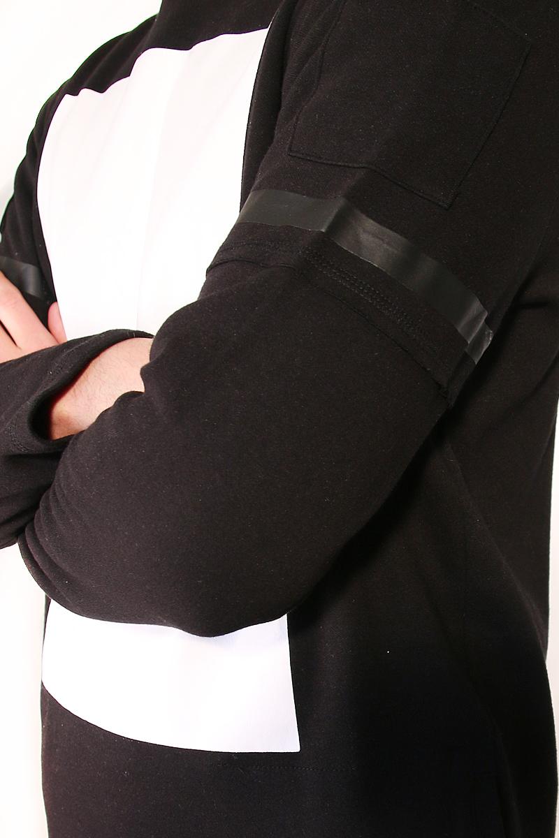 свитшот мужской с капюшоном черный