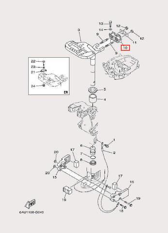 Амортизатор для лодочного мотора F9,9 Sea-PRO (22-10)