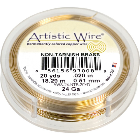 Проволока Artistic Wire 24 Ga (0.511 мм) Non-Tarnish Brass