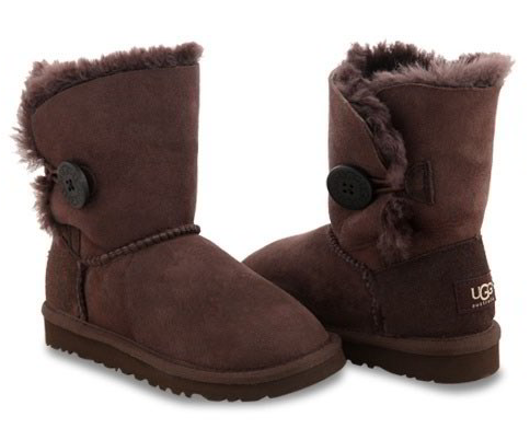 UGG Kids Bailey Button (Chocolate)