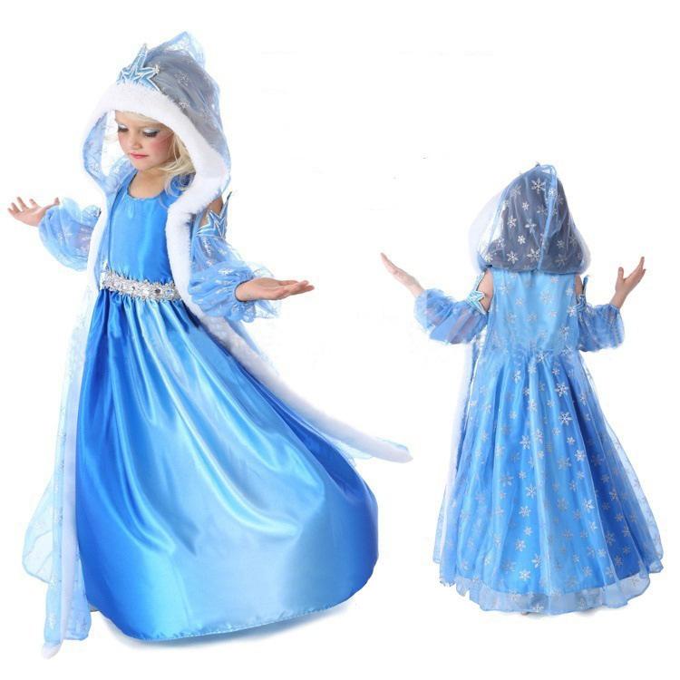 Холодное сердце платье Эльзы с накидкой