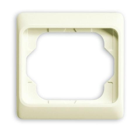 Рамка на 1 пост. Цвет Кремовый глянцевый. ABB(АББ). Alpha Exclusive(Альфа Эксклюзив). 1754-0-3831