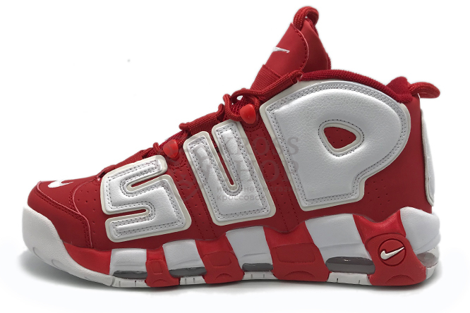 Nike Supreme Men's Air More Uptempo Red/White
