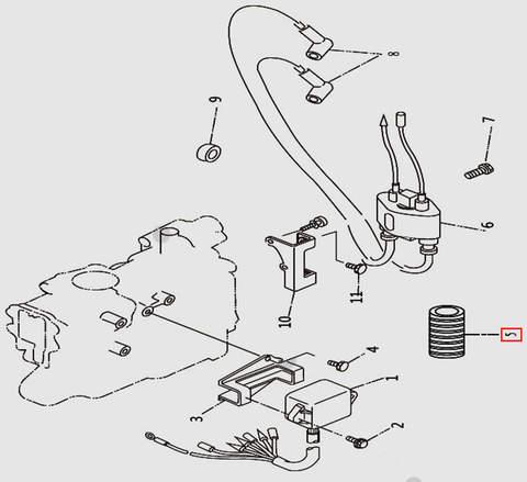 Трубка для лодочного мотора T9.8 Sea-PRO (9-5)