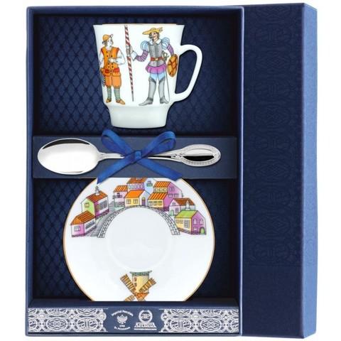 Набор фарфоровый  чайный «Дон Кихот» 3пр.