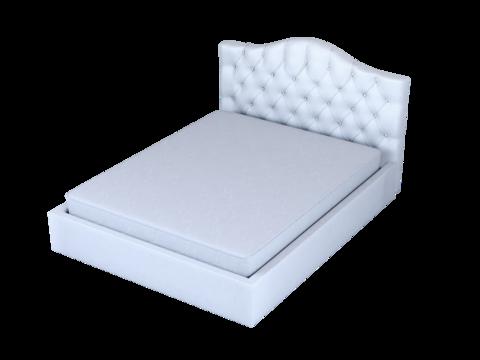 Мягкая двуспальная кровать Амстердам с мягким изголовьем и подъемным механизмом