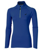 Женская рубашка для бега Asics LS 1/2 ZIP Jersey 132109 8091 синяя   Интернет-магазин