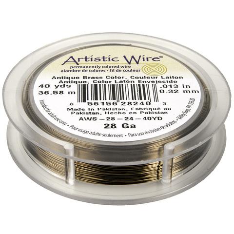 Проволока Artistic Wire 28 Ga (0.321 мм) Antique Brass