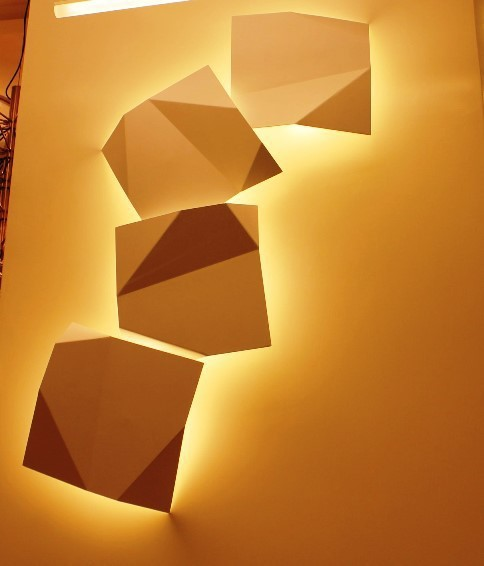 Wall Light Quadro: Replica Origami Quadro Wall Lamp By Vibia ( 4 Pcs