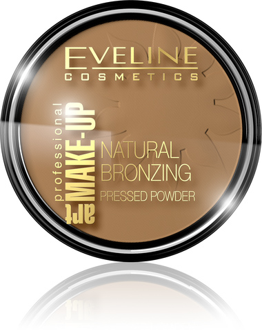 EVELINE ART PROFESSIONAL MAKE-UP NATURAL BRONZING БРОНЗИРУЮЩАЯ ПУДРА № 52