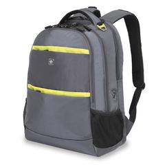 Рюкзак WENGER, цвет серый/салатовый ,полиэстер 900D, 46х33х19 см, 28 л