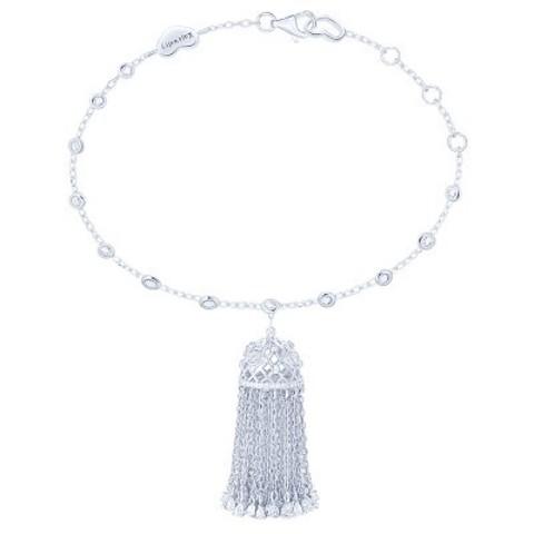 4716- Браслет Tassel с кисточкой из серебра