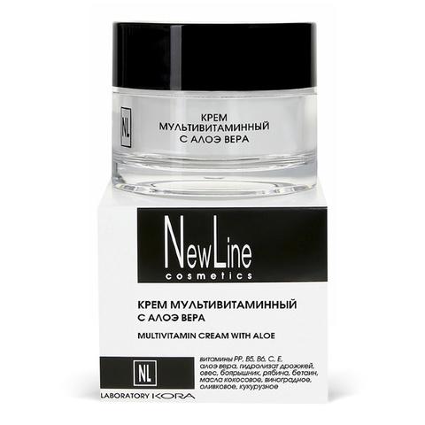 *Крем мультивитаминный с алоэ вера (NewLine/50мл/23026)