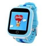 Детские Smart часы Q750 c GPS трекером и Wi-Fi (Голубой)