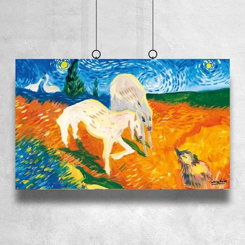 Картина «Гадкий Утенок и охотничьи собаки» 40х60см