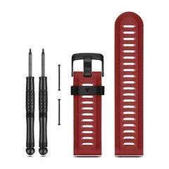 Ремешок полиуретановый для Garmin Fenix 3 (красный) 010-12168-05