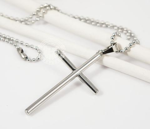 PM222 Мужская подвеска крест из ювелирной стали