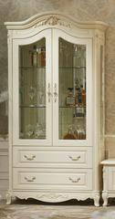 Витрина Милано 2-дверная (8803-В MK-1841-IV) Слоновая кость