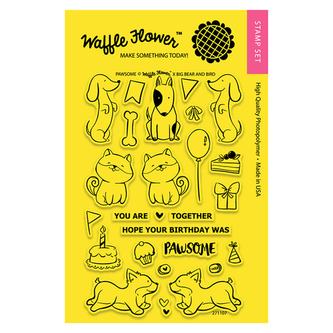 Набор штампов Waffle Flower Crafts Clear Stamps 10х15см  -Pawsome