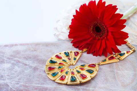 Роскошное колье Trifari «Индийская коллекция».