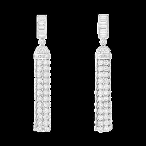 Серьги-кисточки длинные из серебра в стиле BOCHERON