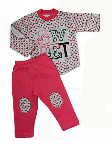 CICILLO  Костюм для девочки с начесом розовый
