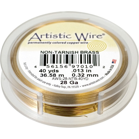 Проволока Artistic Wire 28 Ga (0.321 мм) Non-Tarnish Brass