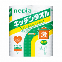 Полотенца кухонные бумажные, NEPIA, 100 листов, в ассорт
