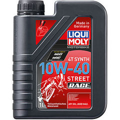 Синтетическое моторное масло для 4-тактных мотоциклов Motorbike 4T Synth Street Race 10W-40 Артикул: 20753      объем: 1 л