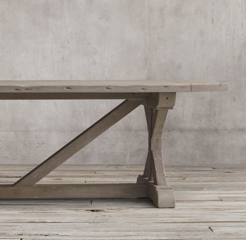Salvaged Wood X-Base Rectangular Extension Dining Table