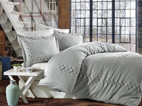 Комплект постельного белья DANTELA VITA сатин с вышивкой 2 спальный (Евро) ELINA