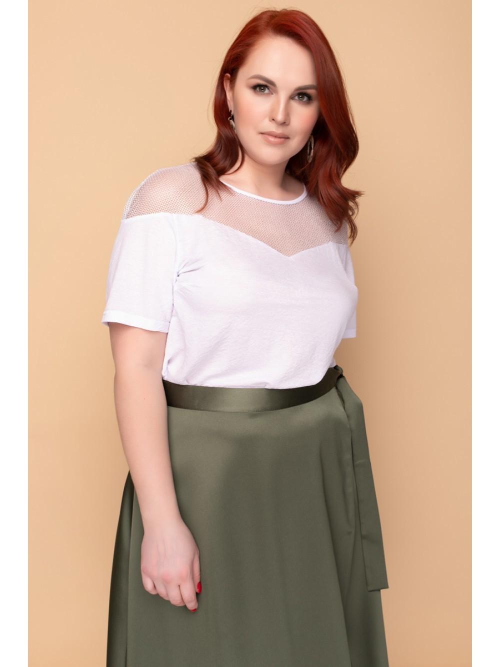 Белая футболка.Размеры 52-62