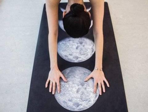 Коврик для йоги Moon 173-200*61*1-3мм из микрофибры и каучука