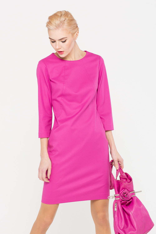 Платье З387-194 - Розовое платье – прекрасная альтернатива классическому маленькому черному. Модель красиво подчеркивает фигуру, акцентирует внимание на талии, укороченные рукава открывают запяться и позволяют поиграть с выбором аксессуаров. Платье идеально впишется в любой современный гардероб и станет его настоящим украшением.