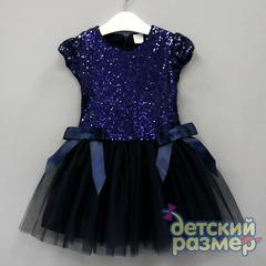 Платье 92-110 (пайетки, бантики)