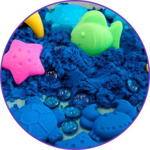 Трогательный песок ЛЕПА с минеральным красителем, синий 1 кг