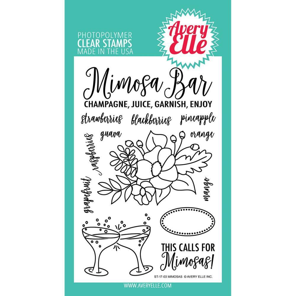 Комплект силиконовых штампов - Mimosas