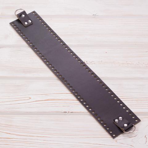 Боковая часть для сумки черная широкая 4мм