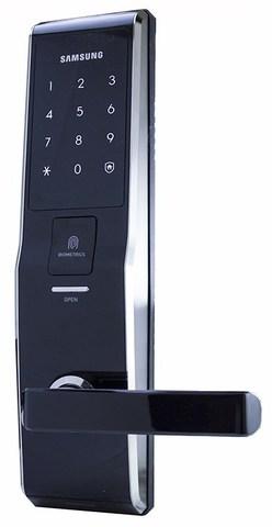Врезной электронный дверной замок Samsung SHS-H705/5230 Black с отпечатком пальца