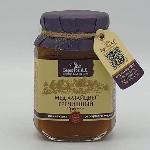 Мёд натуральный Алтайцвет Гречишный БЕРЕСТОВ А.С., 200 гр