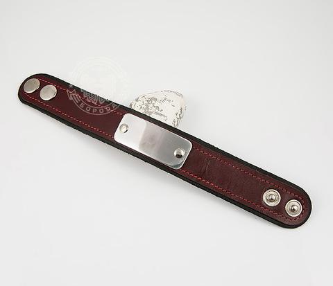 BL452-2 Мужской браслет под гравировку из кожи ручной работы