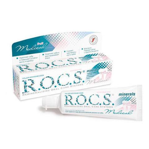 Гель реминерализующий R.O.C.S. Medical Minerals Fruit с фруктовым вкусом