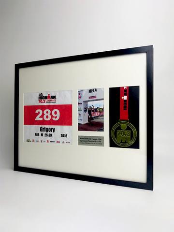 Рамка для медали, номера и фото