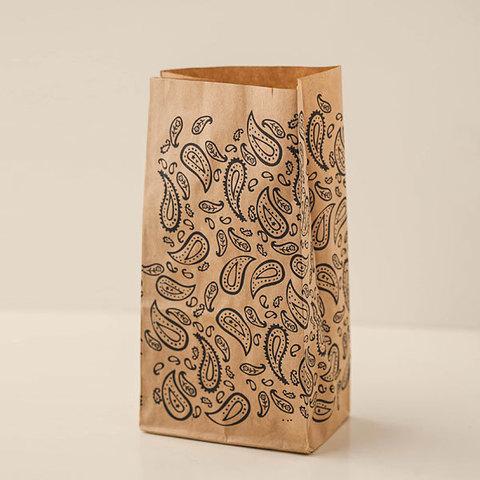 Крафт-пакет для мыла с рисунком Пейсли