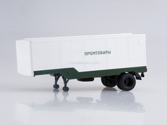 Semitrailer ODAZ-794 Manufactured Goods white-green 1:43 AutoHistory