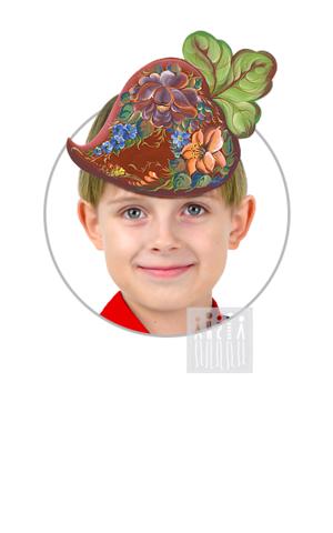 Фото Головной убор - маска Свекла с росписью рисунок Маски для детского сада: для театрализованных и подвижных игр. Эти уникальные  маски ободки станут незаменимым, а подчас - и единственным элементом костюма!