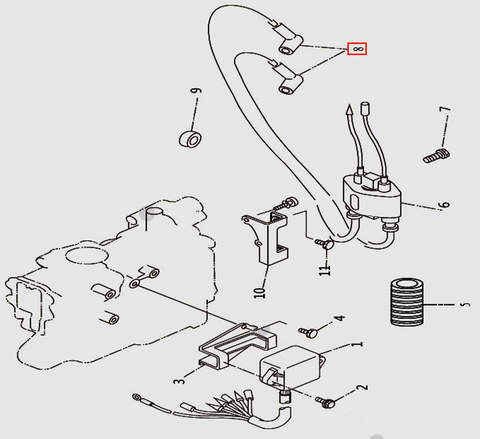 Колпачек свечной для лодочного мотора T9.8 Sea-PRO (9-8)