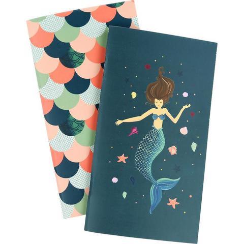 Набор внутренних блоков для тревелбука  - 11х21 см-Echo Park Traveler's Notebook - Mermaid Weekly Calendar- 2 шт