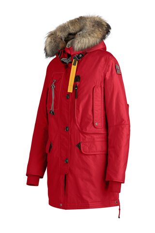 Куртка жен Parajumpers KODIAK 723 красная, капюшон енот